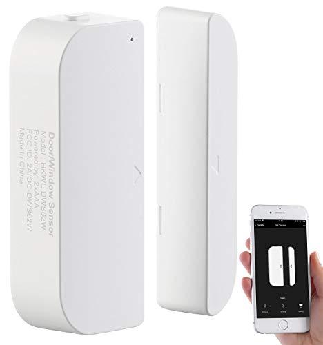 Luminea Home Control Türsensor: WLAN-Tür & Fensteralarm, kompatibel zu Amazon Alexa & Google Assistant (Türsensor WLAN)