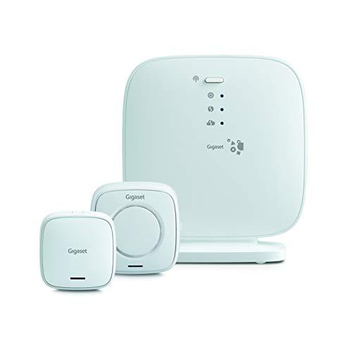 Gigaset Einsteiger-Set – Haus Alarm System (mit lauter Alarmsirene, Tür-Alarm – funktioniert mit Alexa und Google Assistant – Smart Home System – Einstieg ins Gigaset Alarm-System)