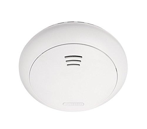 ABUS Funk-Rauchmelder Smartvest Erweiterung der Funk-Alarmanlage | inkl. Hitze Detektion | Batteriebetrieben | für Wohnräume | weiß | 38831