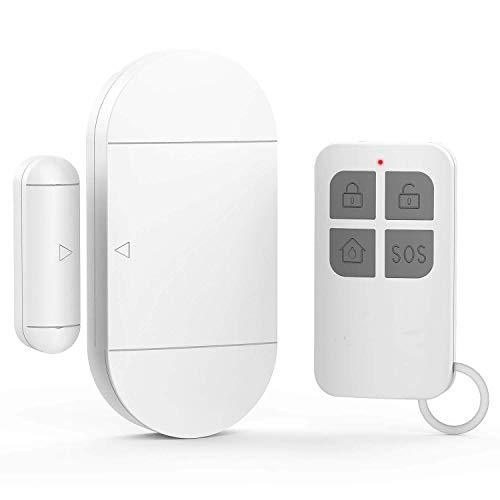 GuDoQi Türalarm Drahtloser 130dB Fensteralarm Einbruchschutz Home Security Alarmanlage Mit Fernbedienung Für Haus Büro Geschäft (1 Alarm Und 1 Fernbedienung)
