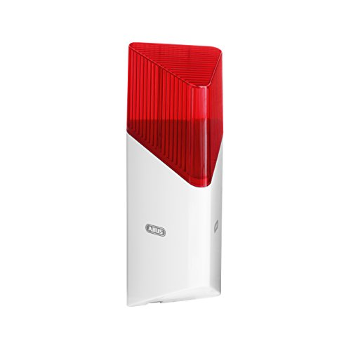ABUS Funk-Sirene Smartvest für Funk-Alarmanlage | bis zu 100 db Lautstärke | Innen- und Außen-Montage | Batteriebetrieben | weiß | 38832