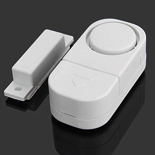 Tür Fenster Alarm, Kabellos Sicherheit Tür Fenster Alarmanlage – Smart Magnetisch Sensor Alarmanlage – für Heim/Auto/Schuppen/Wohnwagen/Wohnmobil – Weiß