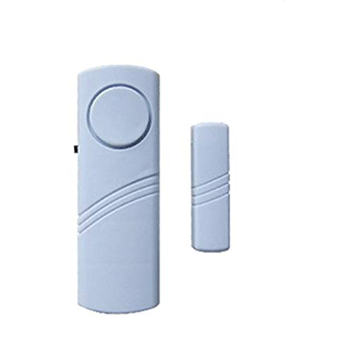 Tür- und Fenstersicherheitsalarm Drahtloser Alarm Magnetisch ausgelöster Türöffnungsgong für Sicherheit zu Hause & (Farbe: Weiß)