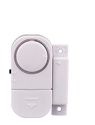 Tür- Fenster- oder Vitrinenalarm mit schrillen 90 dB lauten Alarm zum Schutz vor Dieben und Einbrechern, ohne verkabeln, 4 Stück von Kobert-Goods