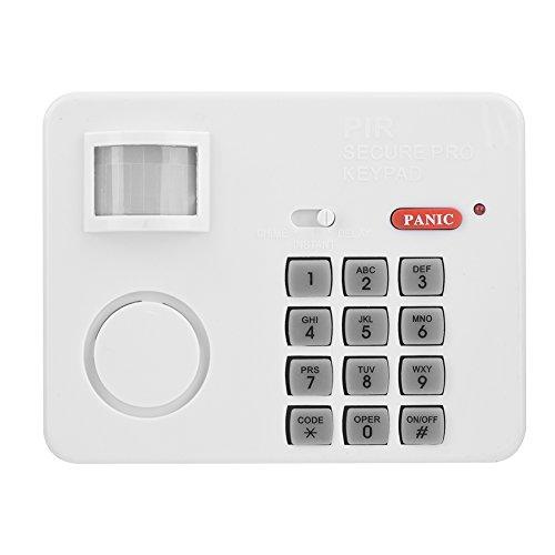 Richer-R PIR Bewegungsmelder Alarm, Wireless PIR Bewegungssensor Alarm Hausalarm,Tür PIR Sicherheit Keypad Alarmanlage System für Vordertür Garage Schuppen Weiß