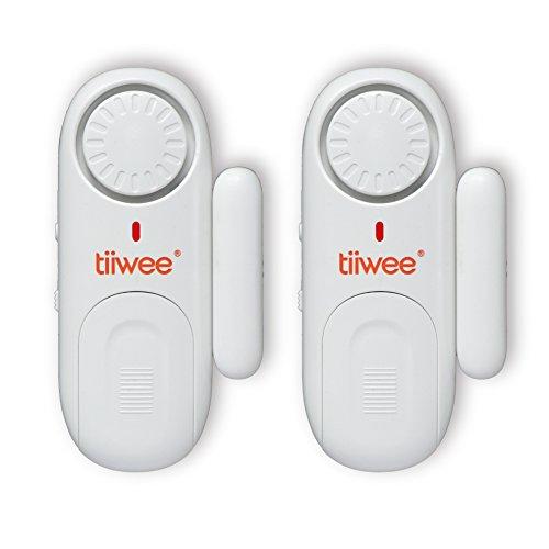 tiiwee Fensteralarm Türalarm 120 dB Einbruchschutz – 2er Set mit Batterien