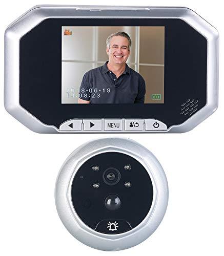 Somikon Türklingel: Digitale Türspion-Kamera mit 8,9-cm-Display, PIR, Aufnahme, Nachtsicht (Doorbell)