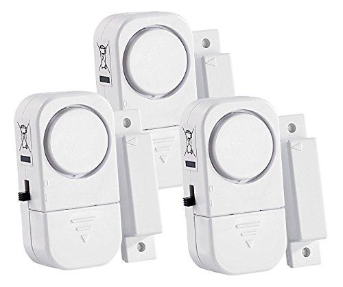 VisorTech Türalarm: 3er-Set Mini-Tür- und Fensteralarme, 95 db, 2 Jahre Batterielaufzeit (Tür Alarmanlage)
