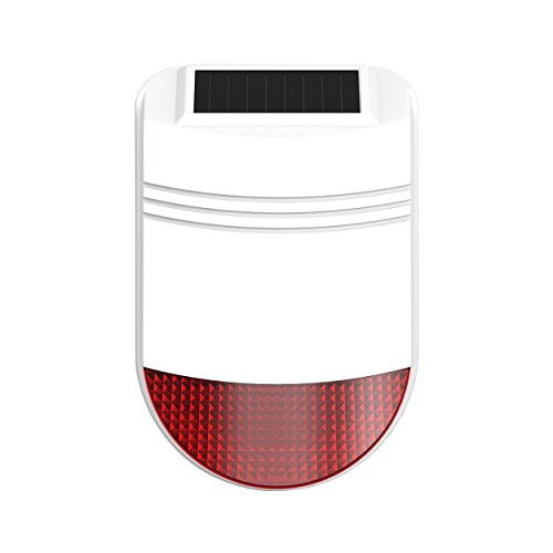 Safe2Home® Solar Funk Außensirene/Außenalarm für Funk Alarmanlage Safe2Home Serie SP110 – GSM Alarmsytem – mit Repeater Funktion
