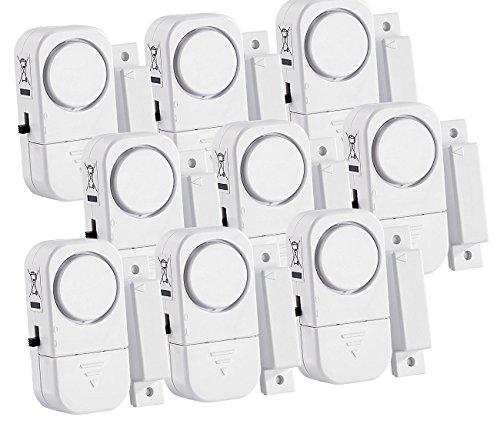 VisorTech Fenstersicherung: 9er-Set Mini-Tür- und Fensteralarme, 95 db, 2 Jahre Batterielaufzeit (Fensteralarmanlage)