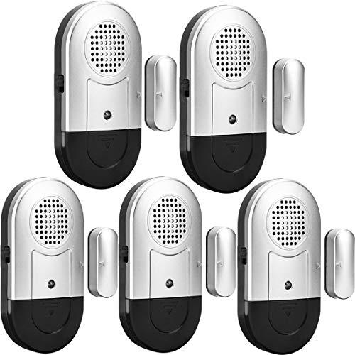 Daytech Fensteralarm Türalarm 120 db Signalton Einbruchschutz türalarmsensor für Home – 5er Set mit Batterien