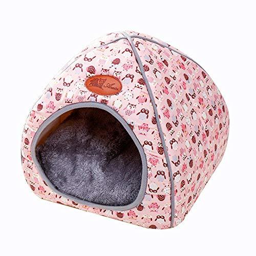 PENVEAT Kleines Haustier Hundehütte Zwinger Bett Matte Katze Decke Haustiere Zelt Entfaltung zu verdicken Winter Pet Betten Matratze Flanell Stoff warm, 2, S