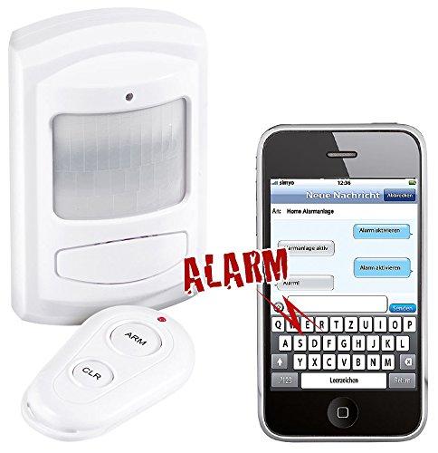 VisorTech Bewegungsmelder SMS: PIR-Bewegungsmelder mit SIM-Karten-GSM-Funktion, Batteriebetrieb (Bewegungsmelder Alarm aufs Handy)