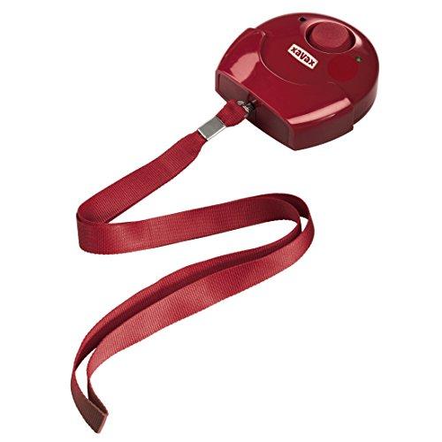 Xavax Mobile Alarmanlage (Alarmsirene für zuhause und unterwegs, mit Umhängeschlaufe und Wandhalterung, extra laut, 118 dB)