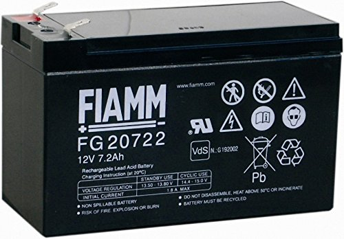 Original FIAMM Akku AGM FG20722 12V 7.2Ah AGM Bleiakku Blei Gel Aufsitzmäher Rasentraktor USV Alarmanlagen